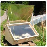 El horno solar europeo de madera